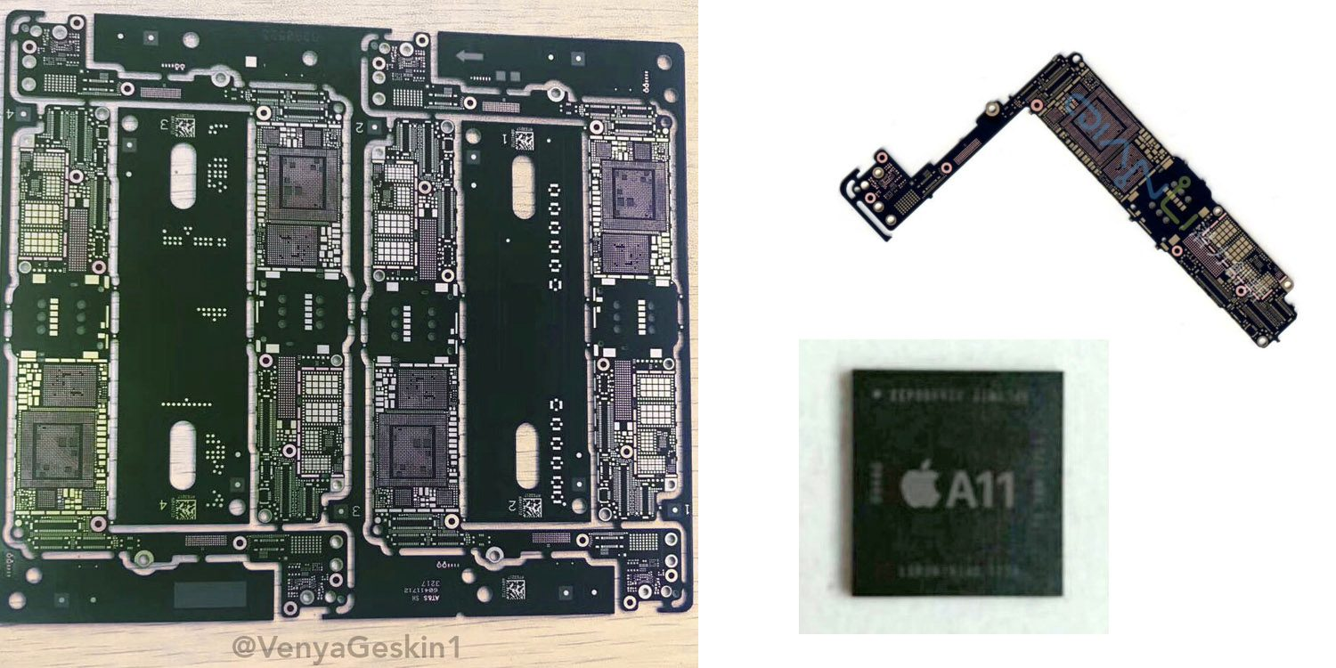 Claimed iPhone 7s parts leak, showing logic board and reiterating reports of A11 chip